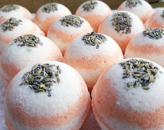 Peach Lavender Bath Bomb