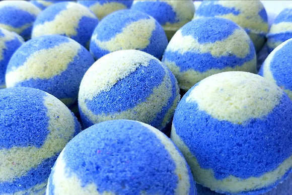 Lemon Blueberry Bath Bomb