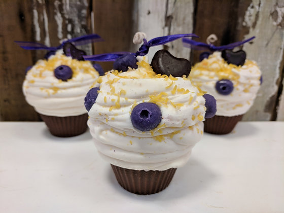 I'm Your Huckleberry Cupcake Candle