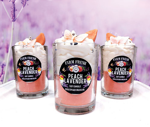 Peach Lavender Drink Candle