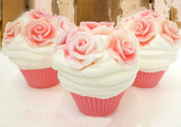 Rose Bouquet Cupcake Candle