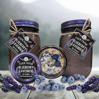 Blueberry Lavender Mason Jar Candle