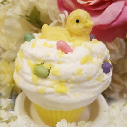 Spring Chick Soy Cupcake Candle