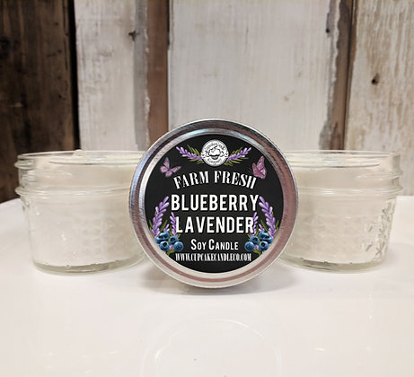 Blueberry Lavender Small Jar Candles
