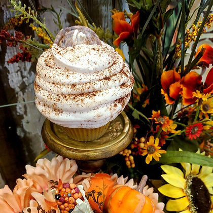 Cinnabun Cupcake Candle