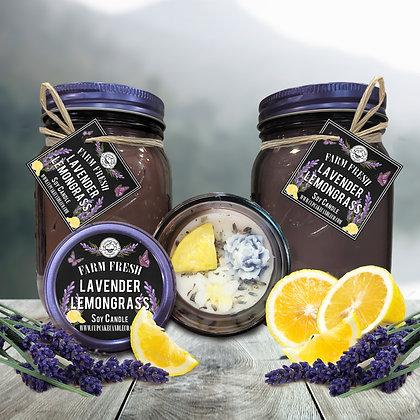 Lavender Lemongrass Mason Jar Candle