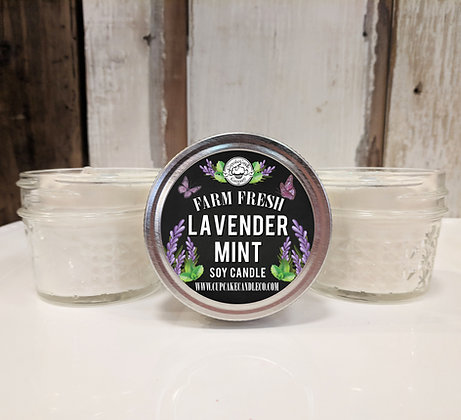 Lavender Mint Small Jar Candle