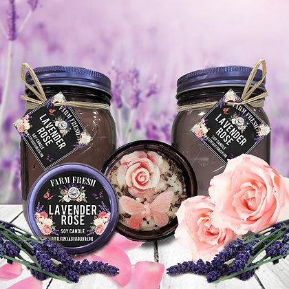 Lavender Rose Mason Jar Candle
