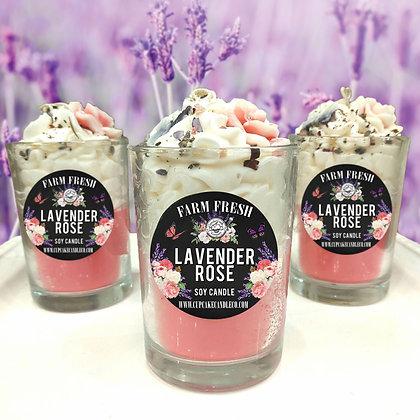 Lavender Rose Drink Candle
