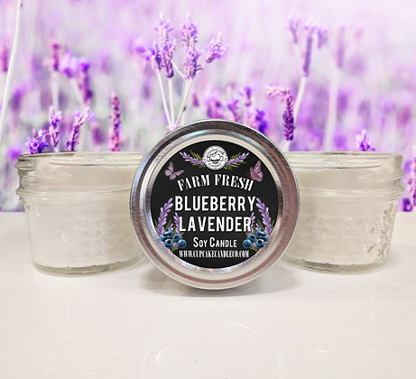 Blueberry Lavender Small Jar Candle