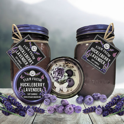 Huckleberry Lavender Mason Jar Candle