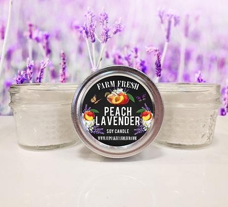 Peach Lavender Small Jar Candle