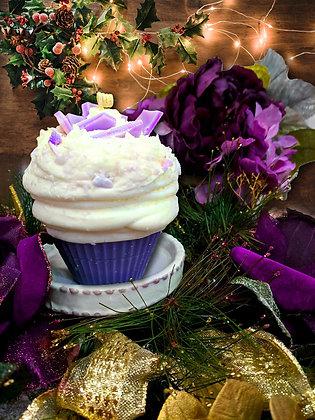 Lavender Bark Cupcake Candle