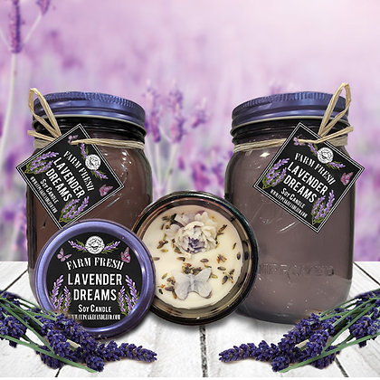 Lavender Dreams Mason Jar Candle