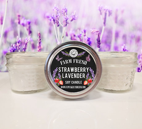 Strawberry Lavender Small Jar Candles