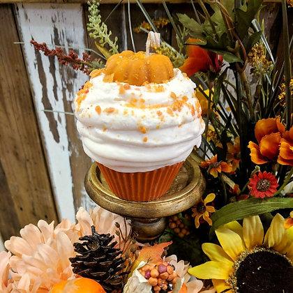 Pumpkin Pie Cupcake Candle