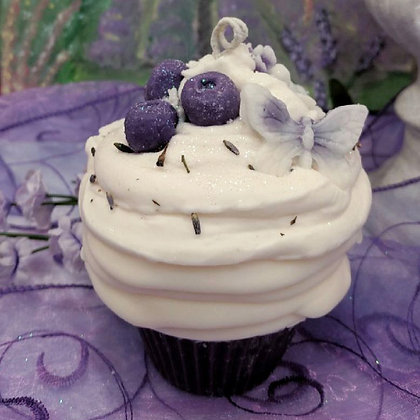 Huckleberry Lavender Cupcake Candle