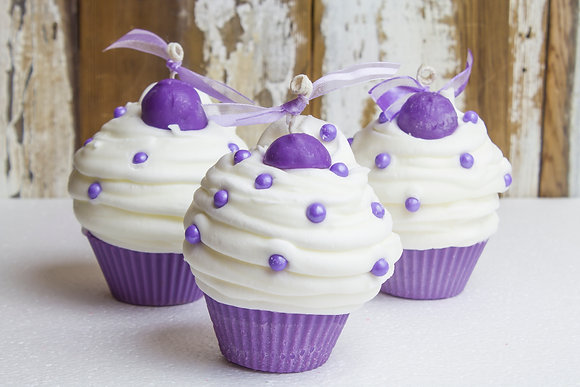 Lavender Truffle Cupcake Candle
