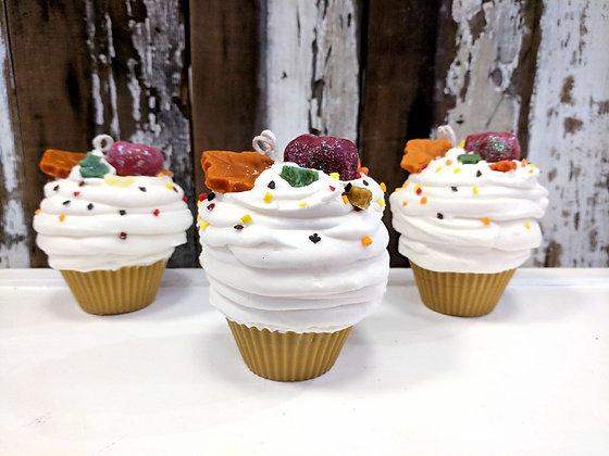 Apple Harvest Cupcake Candle
