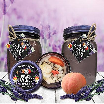 Peach Lavender Mason Jar Candle