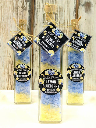 Lemon Blueberry Bath Salts