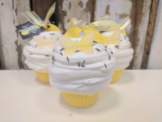 Lavender Lemongrass Cupcake Candle