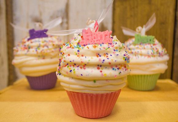 Vanilla Birthday Cake Soy Cupcake Candle