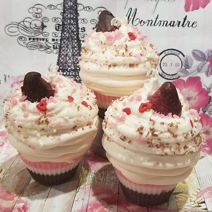 Neapolitan Kiss Cupcake Soy Candle