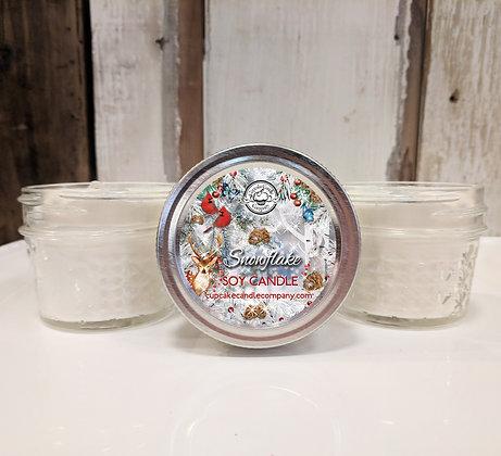Snowflake Small Jar Candle