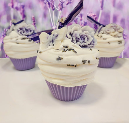 Lavender Dreams Cupcake Candle