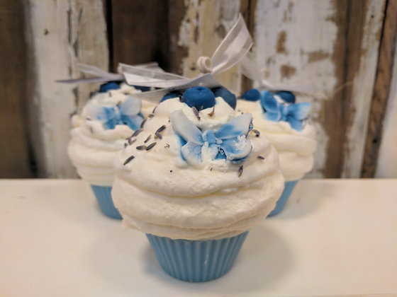 Blueberry Lavender Cupcake Candle