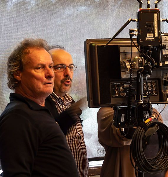 Cast & Crew - Gaffer Michael Hughes & DOP Con Filippidis