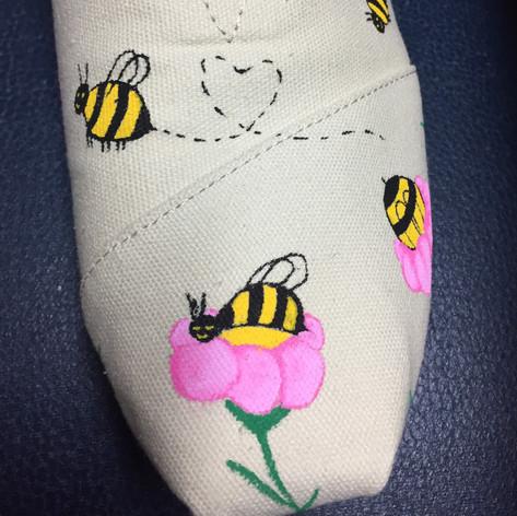 Bienenschuh links