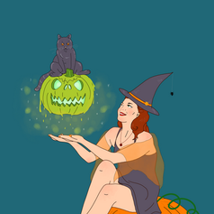 """Day 01: Pumpkin Witch + """"poisonous"""""""