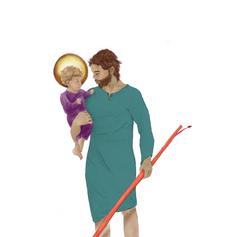 Christophorus mit Jesus