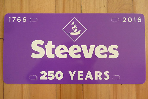 Steeves 250 Fashion License Plate