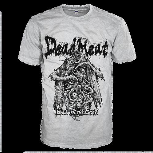 "Dead Meat - ""Unleash The Gore"" Grey T-Shirt"