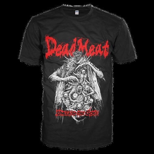 """Dead Meat - """"Unleash The Gore"""" Black T-shirt"""