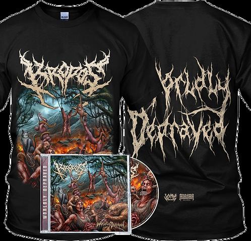 Kropos - Worldly Depraved ( T-shirt + CD)