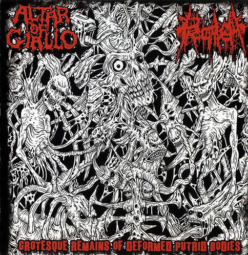 Altar of Giallo / Proctalgia ‎– Grotesque Remains of Deformed Putrid Bodies