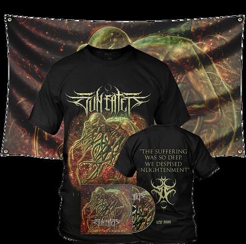 Sun Eater - Light Devoured ( T-shirt + CD + Flag Bundle)
