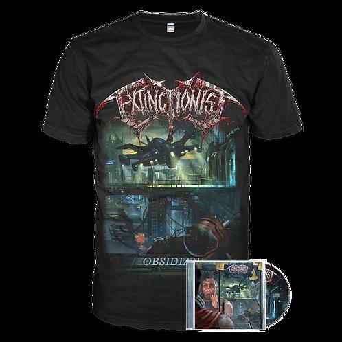 Extinctionist - Obsidian (cover t-shirt Bundle)
