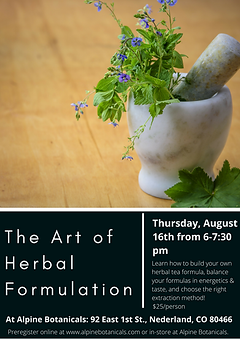 Art of Herbal Formulation Class Flyer-2.