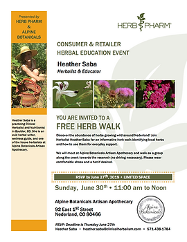 Heather Saba - Alpine Botanicals 06.30.1