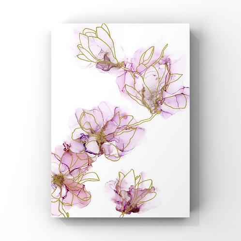 Abstract Magnolias Print