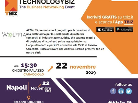 Venite a trovarci al TecnologyBiz il 22 novembre, nella splendida cornice di Palazzo Caracciolo (NA)