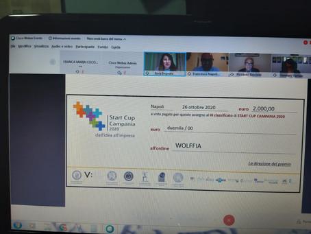 Wolffia è terza alla #startcupcampania 2020