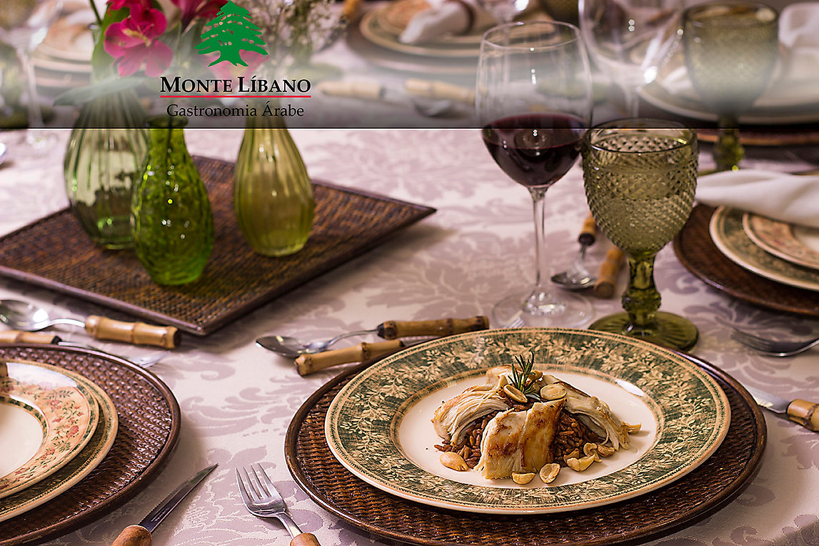 Restaurante Monte Líbano, Gastronomia Monte Líbano, Buffet comida árabe