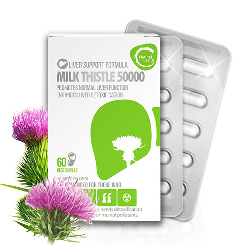 Natural Health Milk Thistle 50000 60 capsules