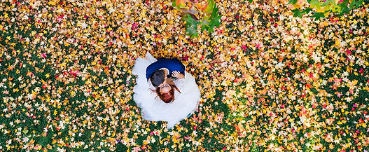Brautpaar Hochzeit Stadtpark Hilden Drohne Kameradrohne Brautpaarshooting